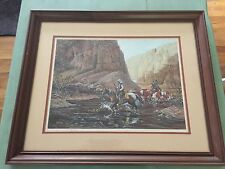 Twelve Hours In The Badlands Gerry Metz Signed & Framed Print 1983