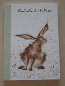 Beautiful WRENDALE A6 Paperback Notebook - HARE RAISING - HARE - NEW