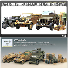 Academy 1/72 Plastic Kit Light Vehicles of Allied & Axis During WWII #13416
