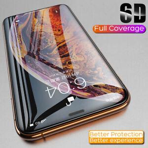 6D Completo Protector Pantalla Cristal Templado Para IPHONE 11 12 Pro Max XR X 8