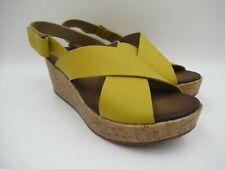 Clarks Stasha Hale Yellow Size UK 6 EU 39.5 Wedge Heeled Shoes BNWOB C976