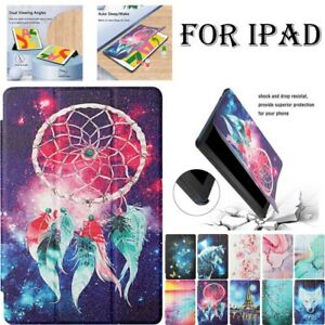For iPad 5 6 7 8th Gen Air Pro 10.5 11 Mini Case Cover Tri-Fold PU Leather Stand