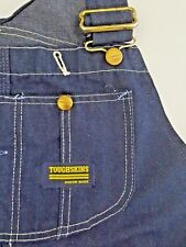 ada6983ce556 Vintage Sears Toughskins Dark Blue Denim Overalls Union Made Scovill Work  Wear