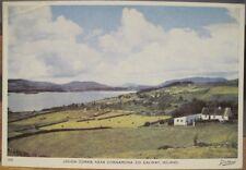 Irish Postcard LOUGH CORRIB Cornamona Galway Cong Ireland Dollard Tru-Color 315