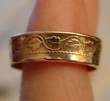 Ring Made from 1909 - CANADA - Large One Penny Coin: Handmade Ring