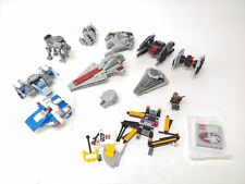 Lego Star Wars Bundle! 10 Small Ships w/ Wookie, Millenium Falcon, SEE PICTURES!