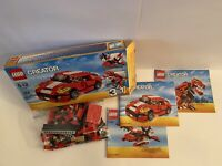 Lego Creator Nr. 31024 Roaring Power 3 In 1 Set Complete with 3 Manuals and Box