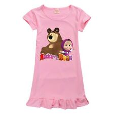 Masha and the Bear Girls Dresses Nightwear Nightdress Pyjamas costume Gifts UK
