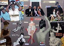 Collage rétro vintage sur chassis entoilé 70x50 cm - L'homme amoureux