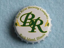 Beer Bottle Crown Cap ~ Bent River Brewing Co ~ Rock Island, Illinois Breweriana