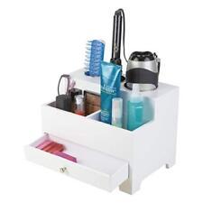 "Richard Homewares - Hair Styling Storage Chest - Wood, 9""Hx12""Wx8.5""D, White"