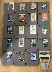 20 X NINTENDO NES GAMES CARTRIDGES & SLEEVES ONLY
