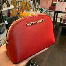 MIchael Kors Mini Xsmall Jet Set Travel Pouch Clutch Leather  Scarlet Red