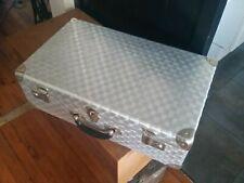 valise ancienne tôle acier déco indus.