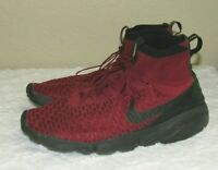 Nike Air Footscape Magista Flyknit FC Team Red Gold Black Sneakers Size 11.5
