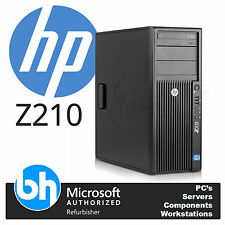 HP Z210 Desktop Tower E3-1230 3.2GHz 16GB RAM, 500GB HDD, NVidia Graphics Win 10