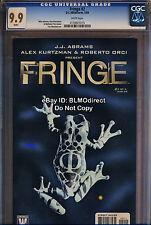 1 Rare CGC 9.9 Fringe 2 JJ Abrams Hit FOX TV Show Comic Highest Graded Only Copy