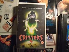 CRITTERS 4 - ENTERTAINMENT IN VIDEO - BIG BOX - EX RENTAL - VHS