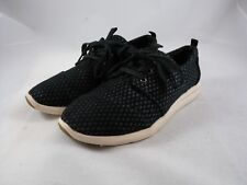 Toms Black Lace Up Sneakers Sparkly Polka Dot Womens 7 Casual Shoes