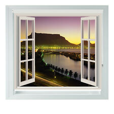 Window Cape Town At Night Africa Printed Photo black out roller blinds 2345ft