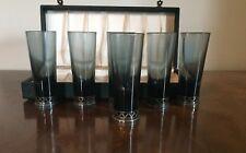Mid Century Swedish Sterling Silver Crystal Toast Shot Glasses Tesi Tage Gothlin