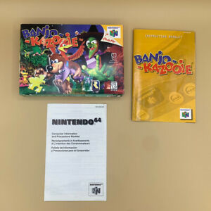 Banjo-Kazooie (Nintendo 64, 1998) N64 BOX & MANUAL ONLY NO GAME AUTHENTIC