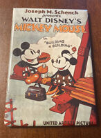 Vintage 1994 Walt Disney Mickey Mouse Magnet Building A Building Movie Poster