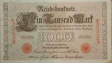 1910 German 1000 Reichs Mark Bank Note Uncirculated!