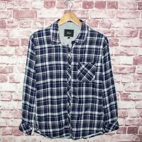 Rails Women's Button Front Flannel Shirt Blue Plaid Cotton Size Small
