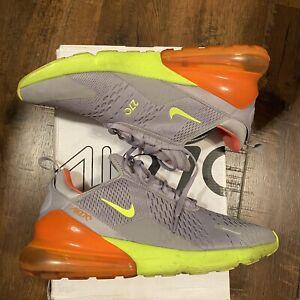 Nike Air Max 270 Grey/Lime/Orange [AH8050-012] Running/Training Men's Size 10.5