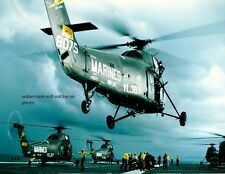 """Marines Sikorsky UH-34D Helicopters USS Princeton 8""""x 10"""" Vietnam War Photo 73"""