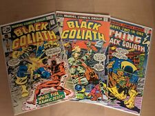 Marvel Two-In-One Comic Book #24 & Black Goliath #2 & 5. (VF-) more for-sale.