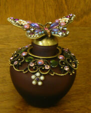 """Enameled Perfume Bottle PB670 BUTTERFLY, NIB from Retail Store 2.5"""" WELFORTH"""