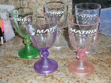 Vintage Matrix Aviation Flashing  Led Wine Glasses  Light Up  8 oz 5 pieces