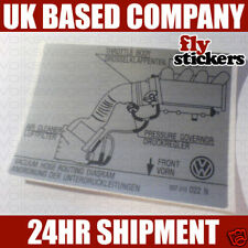 VW MK2 Golf GTI 16v Hose Routing Sticker 022N