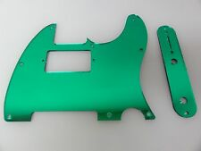 Tele Telecaster Green Mirror Humbucking pickguard + control plate set Fender