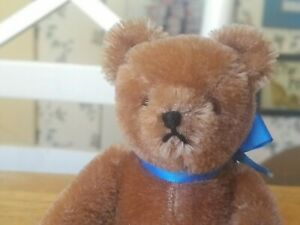 1980s miniature mohair Hermann Teddy Original Teddy bear Western Germany 5in EUC