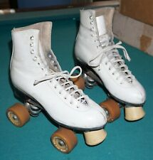 Vintage Riedell Red Wing Roller Skates Sure Grip Super X 4L Womens With Box.
