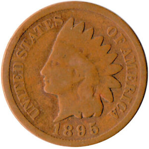 UNITED STATES / 1895 INDIAN HEAD PENNY / 1 CENT / LIBERTY  #WT4015