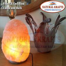 2 x Natural Lamp Rock Mineral Crystal Light Salt Lamp 9-12 KG Free Cable Bulb