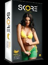 10 X SKORE Banana Flavored Condoms Dotted Colored - Free shipping worldwide