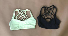 Womens Size 6 Lululemon LOT Black and Light Green Sports Bras Athletic Strappy