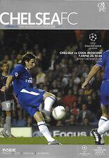 Football Programme>CHELSEA v CSKA MOSCOW Oct 2004 UCL