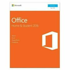 Microsoft Office Home and Student 2016 1 User PC Key Card - New in Box