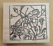 Mounted Rubber Stamps, Butterfly Stamps, Butterflies, Stained Glass Butterfly