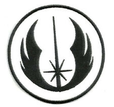 Iron On/ Sew On Embroidered Patch Badge Jedi Logo Roundal Black