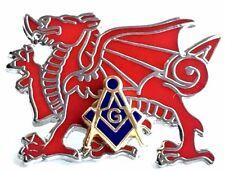 Masonic Token Badge Wales Welsh Dragon Lapel Pin Badge Freemasons Of Wales.