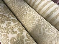 Cream Light Beige Luxury HEAVYWEIGHT Chenille Velvet Upholstery Curtain Fabric