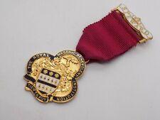 More details for vintage steward masonic 1961 enamel medal. free uk p&p