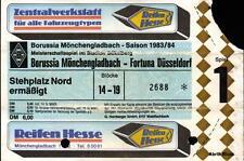 Ticket BL 83/84 Borussia Mönchengladbach - Fortuna Düsseldorf